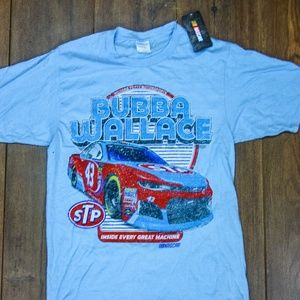 New With Tags Nascar Bubba Wallace Tee Shirt Blue